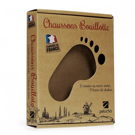 Chaussons chauffants Gris